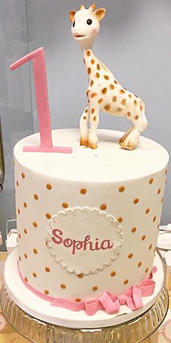 Kit Aniversário Personalizado girafa Sophie - Lima Limão Festas