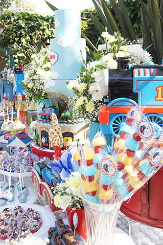 Todos a bordo do comboio Thomas - Lima Limão Festas